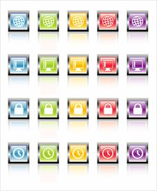 Free MetaGlass Icons Web 3 (Vector) Royalty Free Stock Photos - 2602408