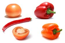 Free Vegetables Isolated On White Stock Photography - 2602442