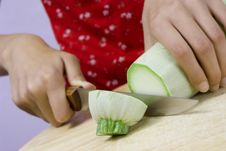 Free Cutting Vegetable Marrow Royalty Free Stock Photo - 2603255