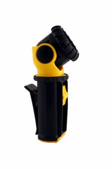 Free Black And Yellow Flashlight Royalty Free Stock Photography - 2604377