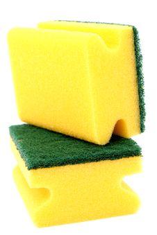 Free Sponge For Washing Utensils Royalty Free Stock Photography - 2605357