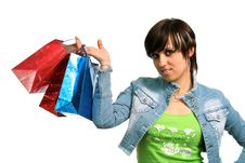 Free The Happy Girl With Purchases Stock Photo - 2605620
