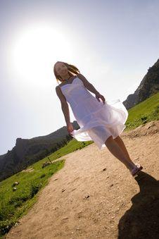 Free Beautiful Model Walking Stock Photos - 2606273