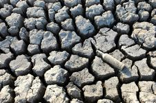 Cracked Dried Ground Royalty Free Stock Photo