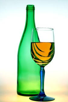 Free Bottle And Glass Of Wine Royalty Free Stock Photos - 2606988