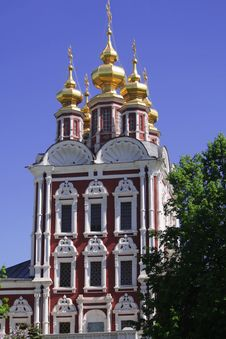 Church Of NOVODEVICHY CONVENT Royalty Free Stock Image