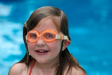 Free Girl Swimming With Goggles Stock Photography - 2608202
