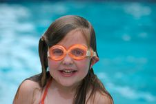 Free Girl Swimming With Goggles Stock Photo - 2608240