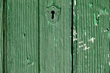 Free Old Green Door Royalty Free Stock Photos - 2608958