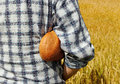 Free Man With Bread. Stock Photography - 26002652
