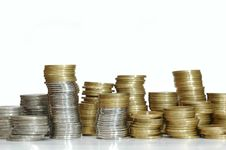 Free Stack Of Coins Stock Image - 26003511