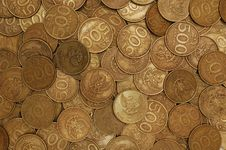 Scattered Coins Royalty Free Stock Photos