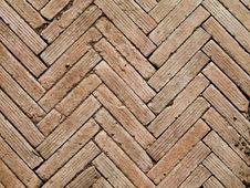 Free Herringbone Pattern Brickwall Stock Images - 26004764