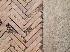 Free Herringbone Brickwall And Stone Bract Pattern Royalty Free Stock Photo - 26004925