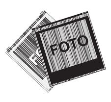 Free Black And White Vector With Polaroid Photos Royalty Free Stock Photo - 26005855