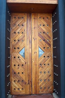 Free Old Wood Door Royalty Free Stock Photos - 26006098