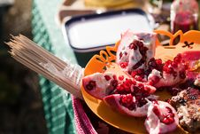 Barbecue With Pomegranate Royalty Free Stock Photo