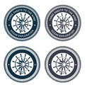 Free Nautical Emblem With Steering Wheel Stock Photos - 26011563