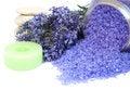 Free Lavender Bath Salt Stock Photography - 26015982