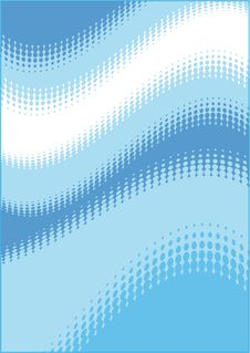 Free Abstract Blue Wave Dot Background Stock Photography - 26012442