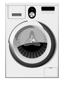 Free Washing Machine Royalty Free Stock Image - 26014856