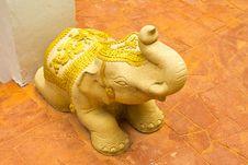 Stone Elephant Statue Royalty Free Stock Image
