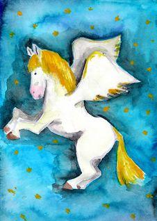 Free Pegasus Royalty Free Stock Image - 26016756
