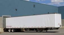 Free Trailer At Loading Dock Royalty Free Stock Photos - 26018668