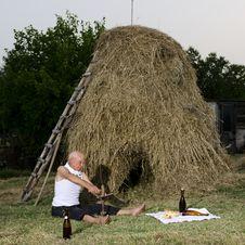 Sharpen The Sickle After Harvest. Stock Images