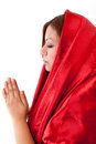 Free Happy Woman Praying Stock Photography - 26022032