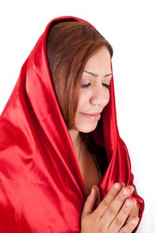 Free Happy Woman Praying Stock Image - 26022011