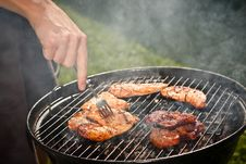Free Grilling In The Garden Royalty Free Stock Image - 26026866