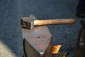 Free Hammer And Anvil Used By A Blacksmith Royalty Free Stock Image - 26030216