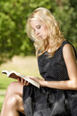 Free Young Woman Reading Book Stock Images - 26032324