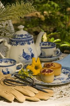 Tea Time In The Garden Royalty Free Stock Photo