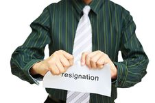 Free A Business Man Tearing A Resignation Letter Royalty Free Stock Photo - 26032515