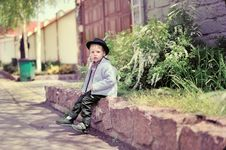 Free The Boy In A Cap Stock Images - 26033564