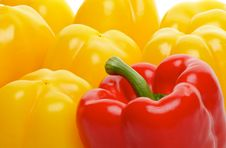Free Red And Yellow Bell Peppers Royalty Free Stock Images - 26034409