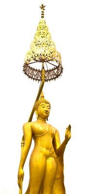 Free Golden Buddha Statue Isolated Royalty Free Stock Images - 26034459