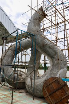 Free The Construction Site Of Statue Cement Royalty Free Stock Image - 26034486