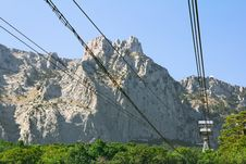 Free Cable Car To The Mountain Royalty Free Stock Photo - 26034725