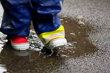 Free Gumboots And A Puddle Stock Images - 26037914