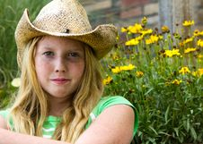 Free Girl In Cowboy Hat. Stock Photos - 26038483