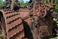 Free Rusting Antique Tractor Stock Images - 26038694