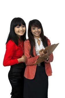 Two Business Woman Stock Image