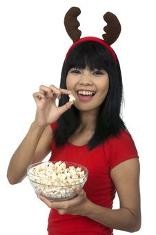 Free Christmas Popcorn Stock Image - 26039231