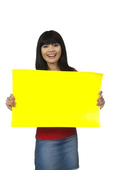 Free Hold Banner Stock Photography - 26039232
