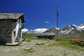 Free Sella Mountain Hut, Gran Paradiso National Park. Stock Images - 26048344