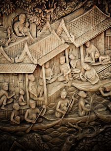 Stucco Sculpture Of Thailand In The Past. Royalty Free Stock Images