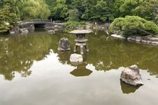 Free Japanese Pond Royalty Free Stock Image - 26044246